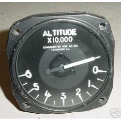 Vintage Warbird Jet Altitude Indicator, C69-AIT-0-6