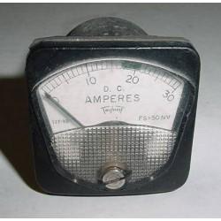 Vintage Warbird Ammeter, Amps Indicator, 127-HR