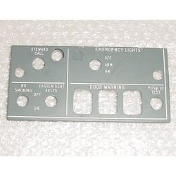 BAC 1-11, BAC One-Eleven Cockpit Control Panel Face Plate