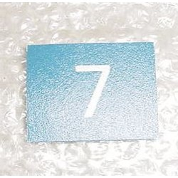 A15541-57, Boeing 767 Aircraft Cabin Seat Placard