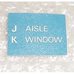 A15541-105, Boeing 767 Aircraft Cabin Seat Placard