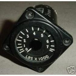 Vintage British Warbird Jet Fuel Quantity Indicator