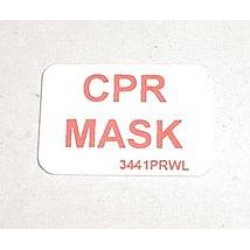 McDonnell Douglas DC-9 Flight Attendant Station CPR Mask Decal