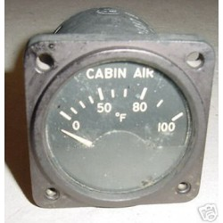 Vintage Warbird Cabin Air Temperature Indicator, A87337-8