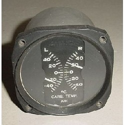 WWII Douglas A-20 Havoc Carburetor Air Temperature Indicator