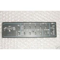47219, Cessna Conquest Audio Panel Faceplate, Lightplate