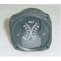 45980, Twin Cessna Aircraft Alcor Exhaust Gas / EGT Indicator