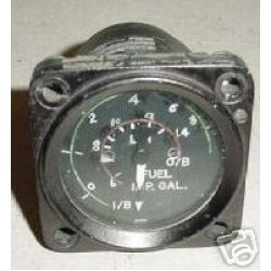 Vintage British Warbird Jet Fuel Quantity Indicator, 2266FGBR