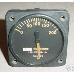 WWII Warbird Hydraulic Pressure Indicator, 24100-4G-13-A1