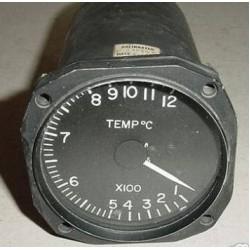 Vintage Warbird Jet Aircraft Temperature Indicator, 71708-1