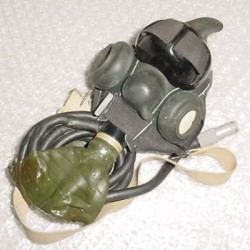 WWII Aircraft Pilot, Co-Pilot, Aircrew Emergency Oxygen Mask