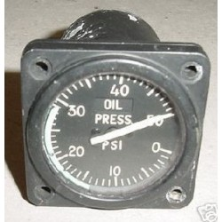 Vintage Warbird Jet Oil Pressure Indicator, SR-6A, MS28010-1