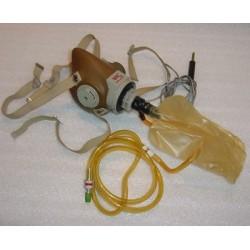 Vintage Aircraft Pilot / Copilot Oxygen Mask w/ Microphone
